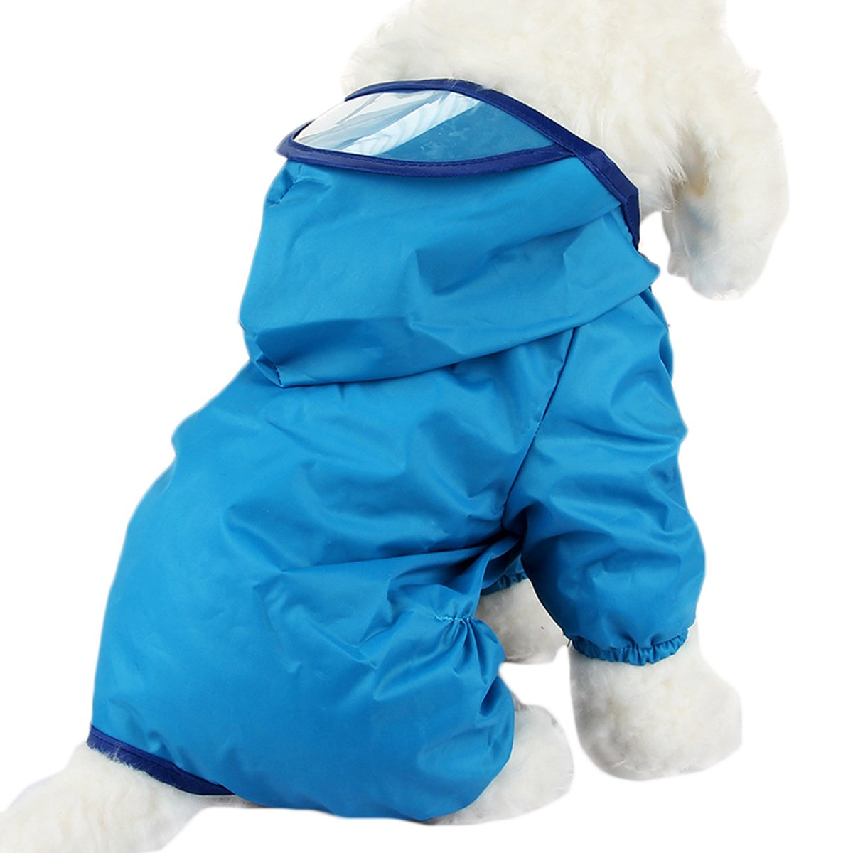 Comfysail Waterproof Petit Manteau Impermeable de Chien à Capuche pour Chiot Petit Chien