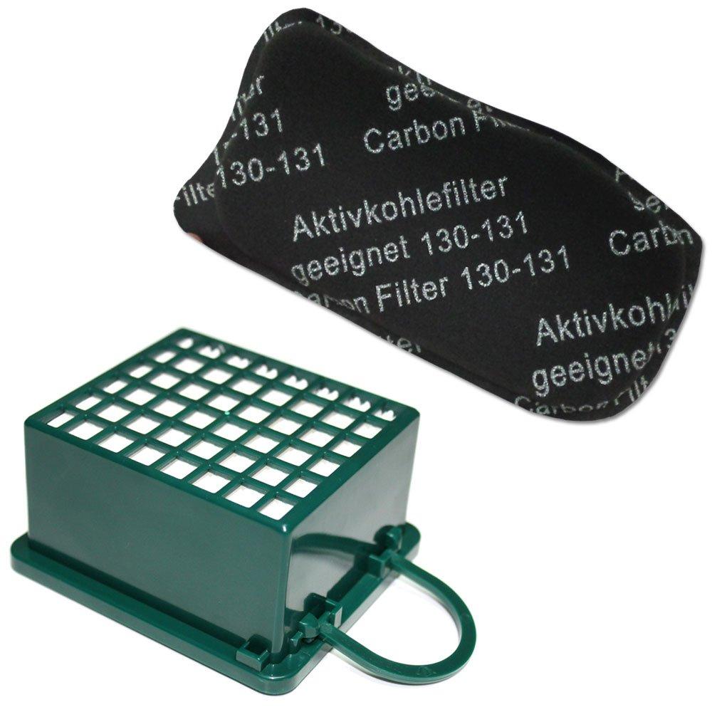 KIT Filtro HEPA / EPA + Filtro ODORI per aspirapolvere Vorwerk Folletto Kobold VK 130, 131 SC, VK130, VK131 Filterprofi