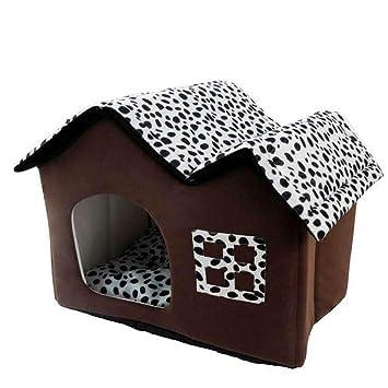 sanza marca caseta Cama Suave para Animales pequeños Perros y Gatos Modelo de casa Versión actualizada