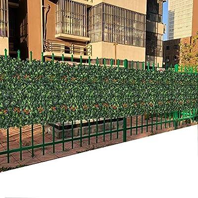 Yw-Flower Seto Artificial, Rollo de seto de coníferas, Panel de Cerca de Cobertura de privacidad de jardín de plástico Verde (50 cm x 50 cm), 10 Piezas: Amazon.es: Hogar