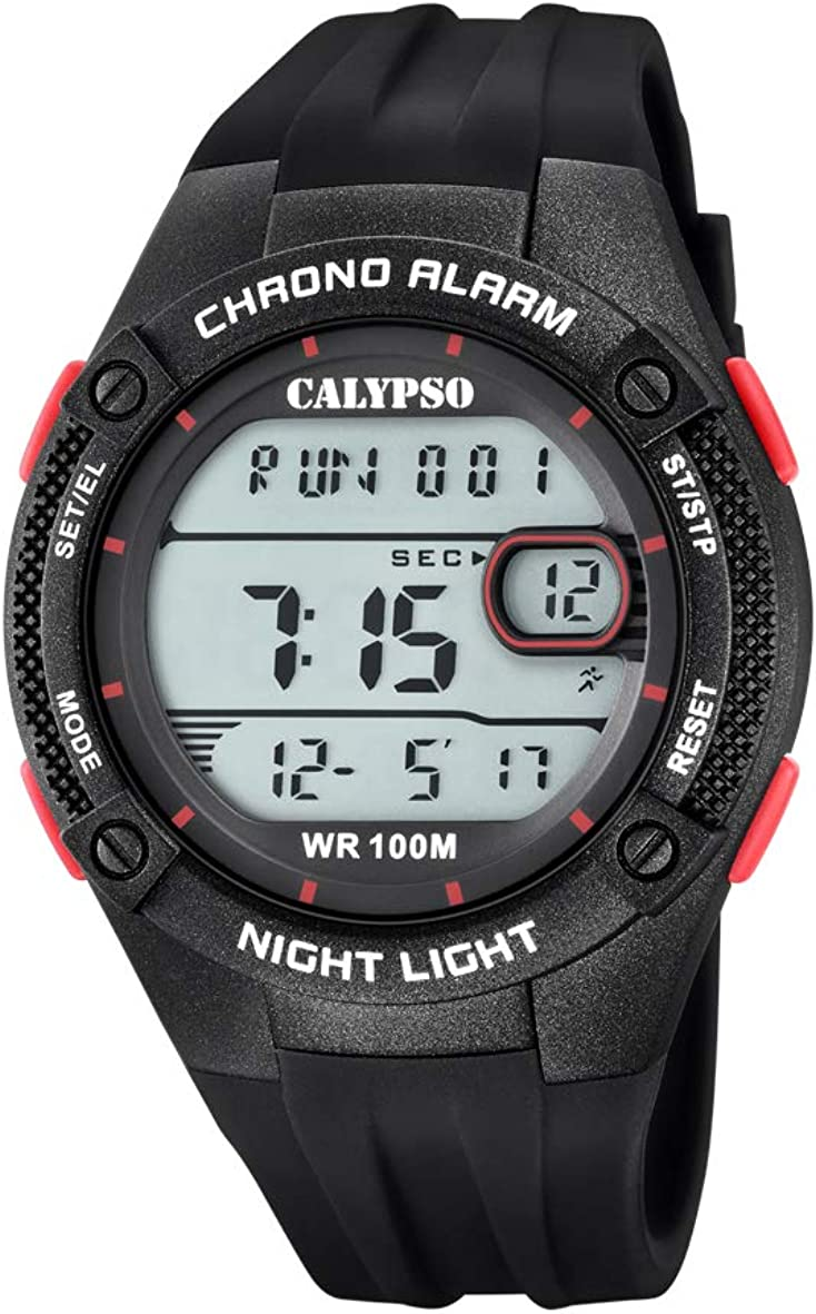 Calypso Watches Reloj Digital para Hombre de Cuarzo con Correa en Plástico K5765/3