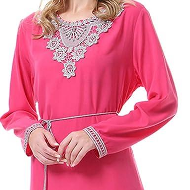 Vovotrade Vestido de Manga Larga musulmán árabe islámico Oriente ...