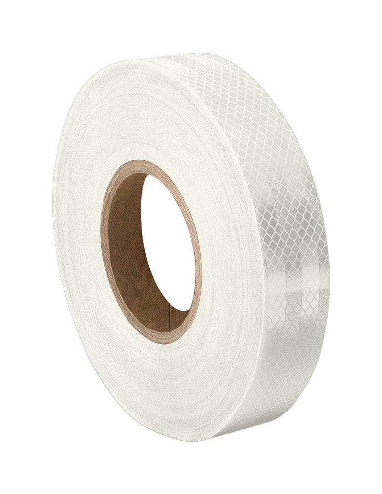 "3M 3430 White Micro Prismatic Sheeting Reflective Tape 2"" Width x 5 yd Length (1 roll)"