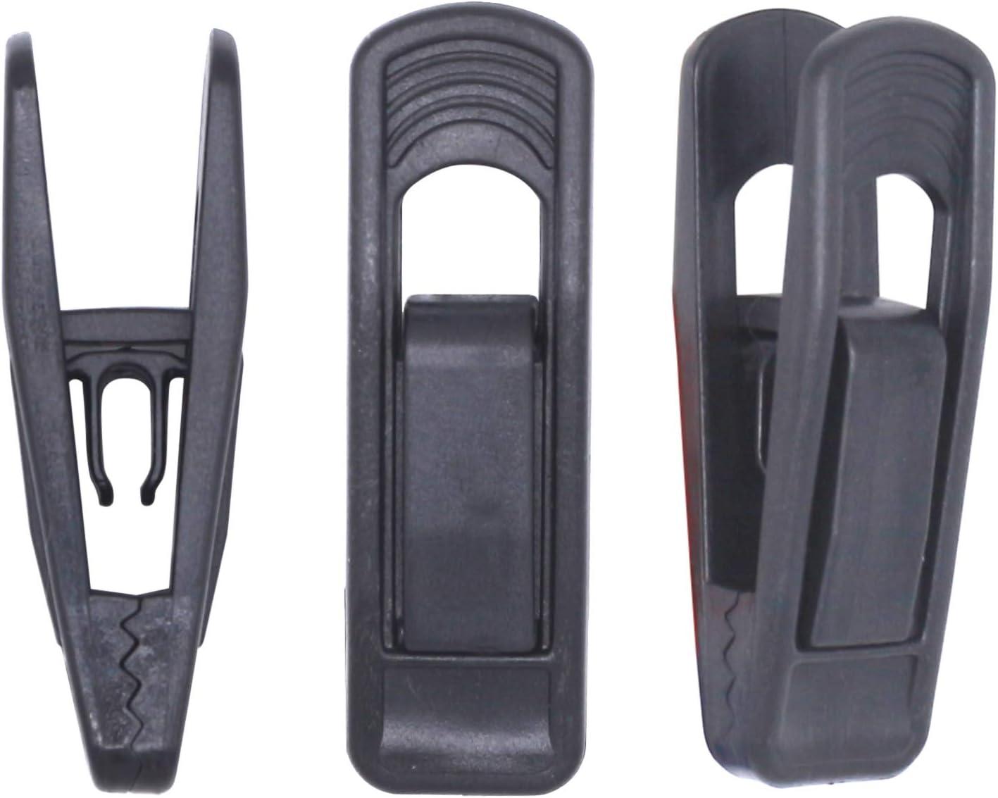 Tinfol Black Plastic Hanger Clips for Hangers, 40 Pack Pants Hanger Clips, Strong Pinch Grip Clips for Use with Slim-line Clothes Hangers, Finger Clips for Velvet Hangers