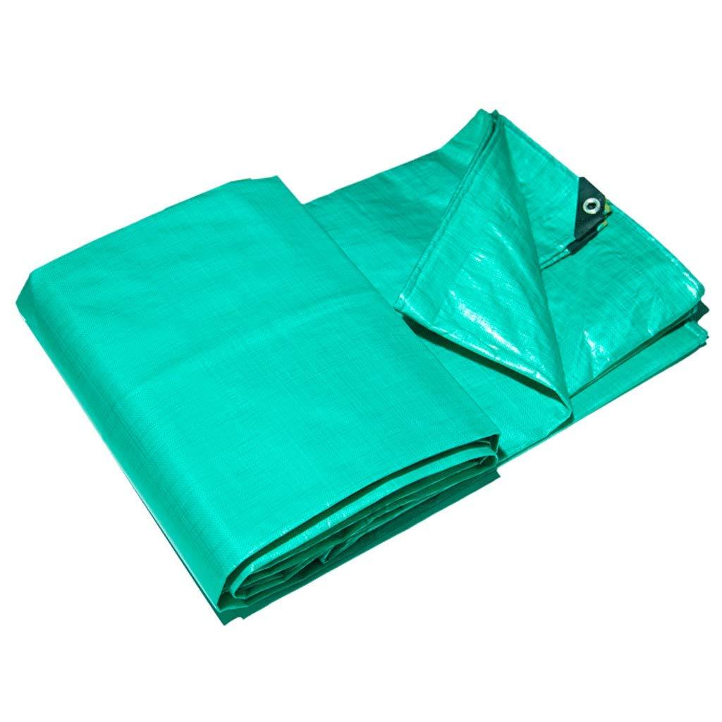 JLZS-Tarpaulin Regenfestes Tuch Wasserdichter Sonnenschutz Sonnenschutz Starke Plane Isolation Verschleißfeste Baldachin-Plane Canvas (Farbe   Grün, größe   3  5)