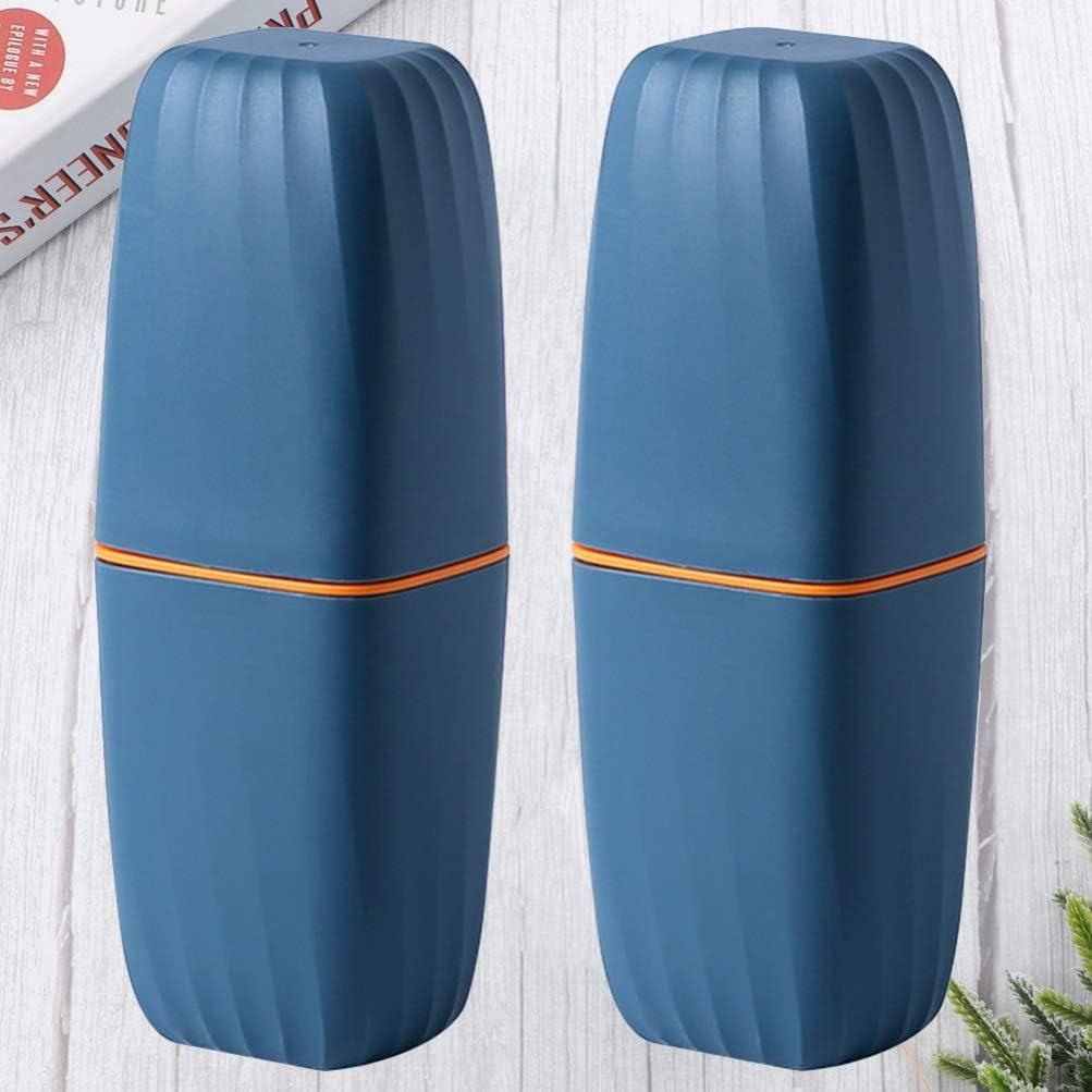Kesyoo Lot de 2 bo/îtes de rangement en plastique pour brosse /à dents ou dentifrice Couleur al/éatoire