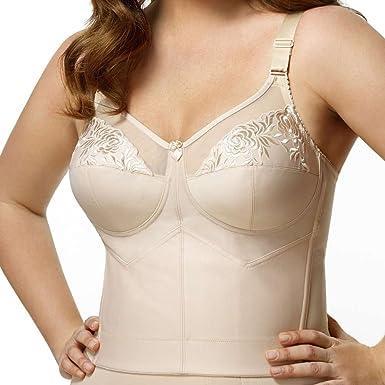 1ccb2dfbbc5d7 Amazon.com  Elila Women s Plus Size Back-Hook Longline Posture Bra  Home    Kitchen