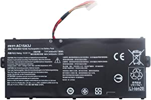 SUNNEAR AC15A3J 36Wh Laptop Battery Replacement for Acer Chromebook R11 CB5-132T CB5-132T-C1LK C738T Chromebook 11 CB3-131 C735 Series Notebook AC15A8J KT.00303.017 10.8V 3490mAh