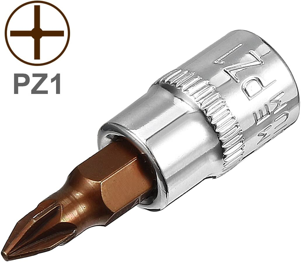 uxcell/® 2Pcs 1//4-Inch Drive PH1 Philips Bit Socket S2 Steel