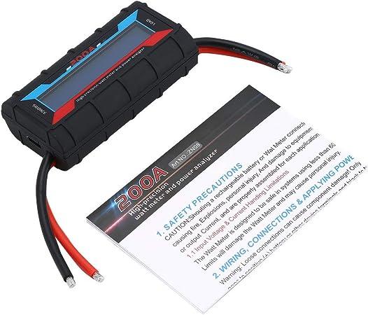 Dc 60 V 200a Batteriespannungsausgleich Hohe Präzision Wattmeter Power Analyzer Checker Balancer Rc Ersatzteile Mit Hintergrundbeleuchtung Schwarz Dejasnyfall Auto