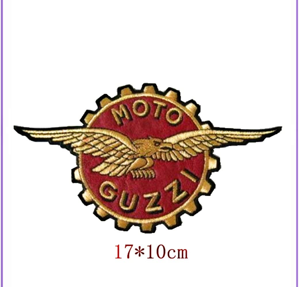 1x Moto Guzzi Logo Patches Embroidered Applique Cloth Badge Iron Sew On
