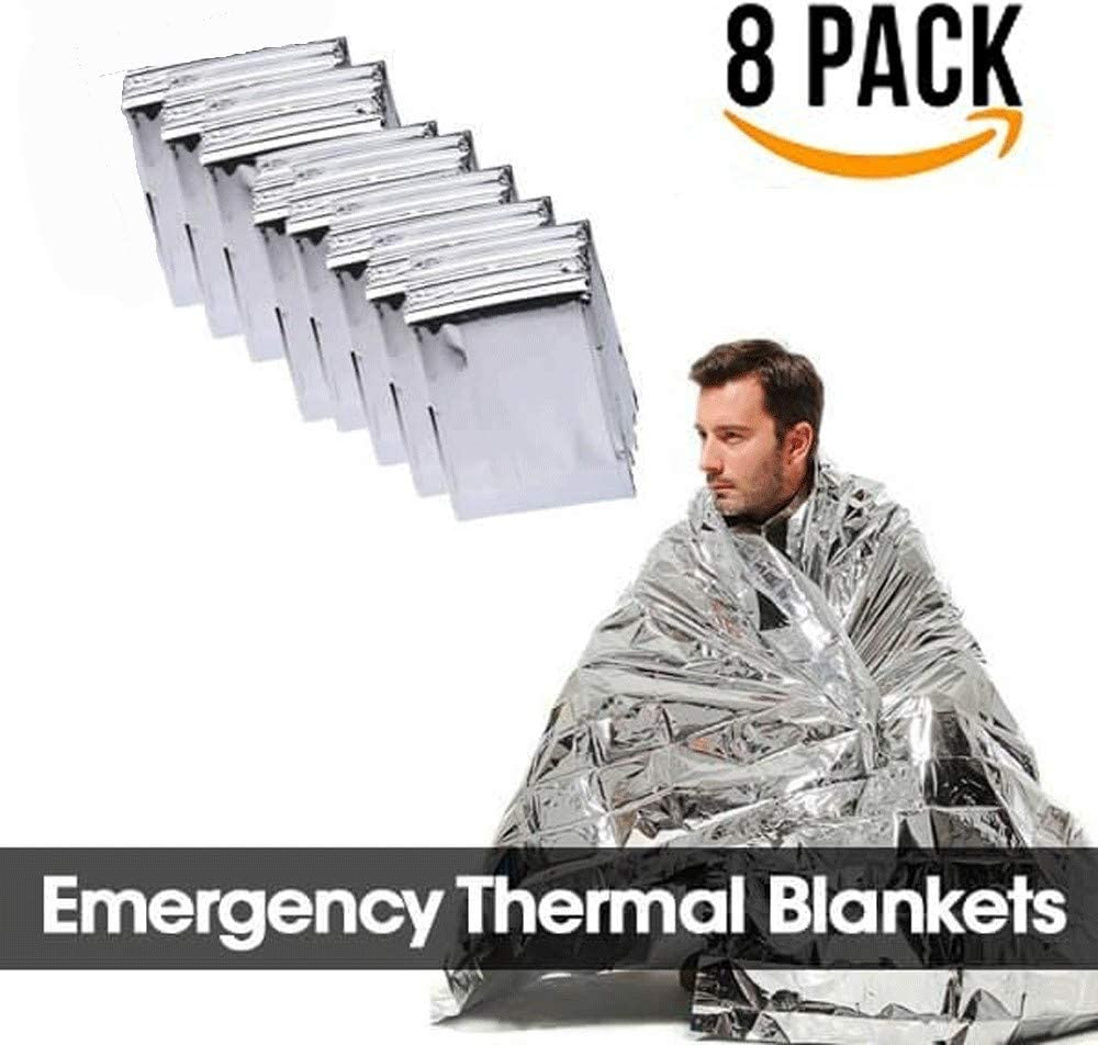 """10 Pack Emergency BLANKET Thermal Survival Safety Insulating Mylar Heat 84/"""" X52/"""""""
