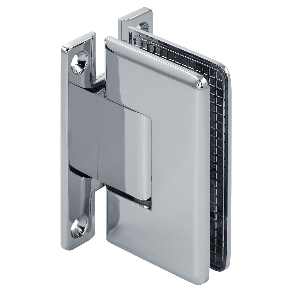 MODEXO H1PLU 2203CHR Pluto Adjustable Wall Mount Beveled Standard Offset Back Shower Hinge Chrome