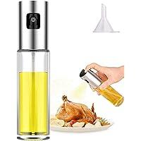 Oil Sprayer- Olive Oil Sprayer for Cooking,Spray Bottle for Oil Versatile Glass Spray Olive Oil Bottle Vinegar Bottle…