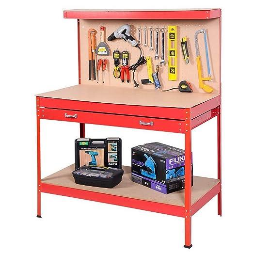 SSLine - Mesa de trabajo de madera y acero para colgar ...