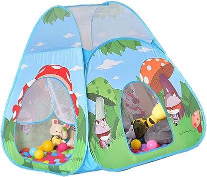 D DOLITY Tienda de Campaña Infantil Patrones de Dibujos Animados Castillo de Princesa Plegable Casa de Juego de Cama Cuna de Bebés: Amazon.es: Juguetes y juegos