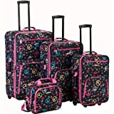 Rockland Luggage 4 Piece Luggage Set, Peace, One Size