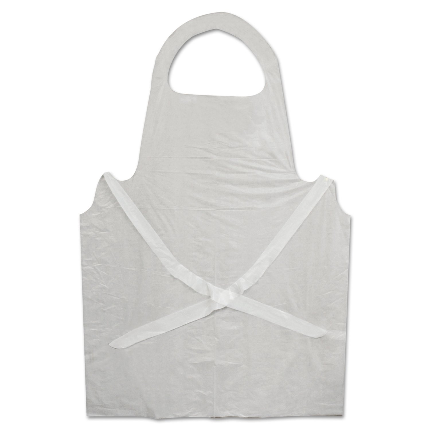 White disposable apron - Boardwalk 390 Disposable Apron White Poly 28 X 45 1 25 Mil One Size Pack Of 100 Science Lab Aprons Amazon Com Industrial Scientific