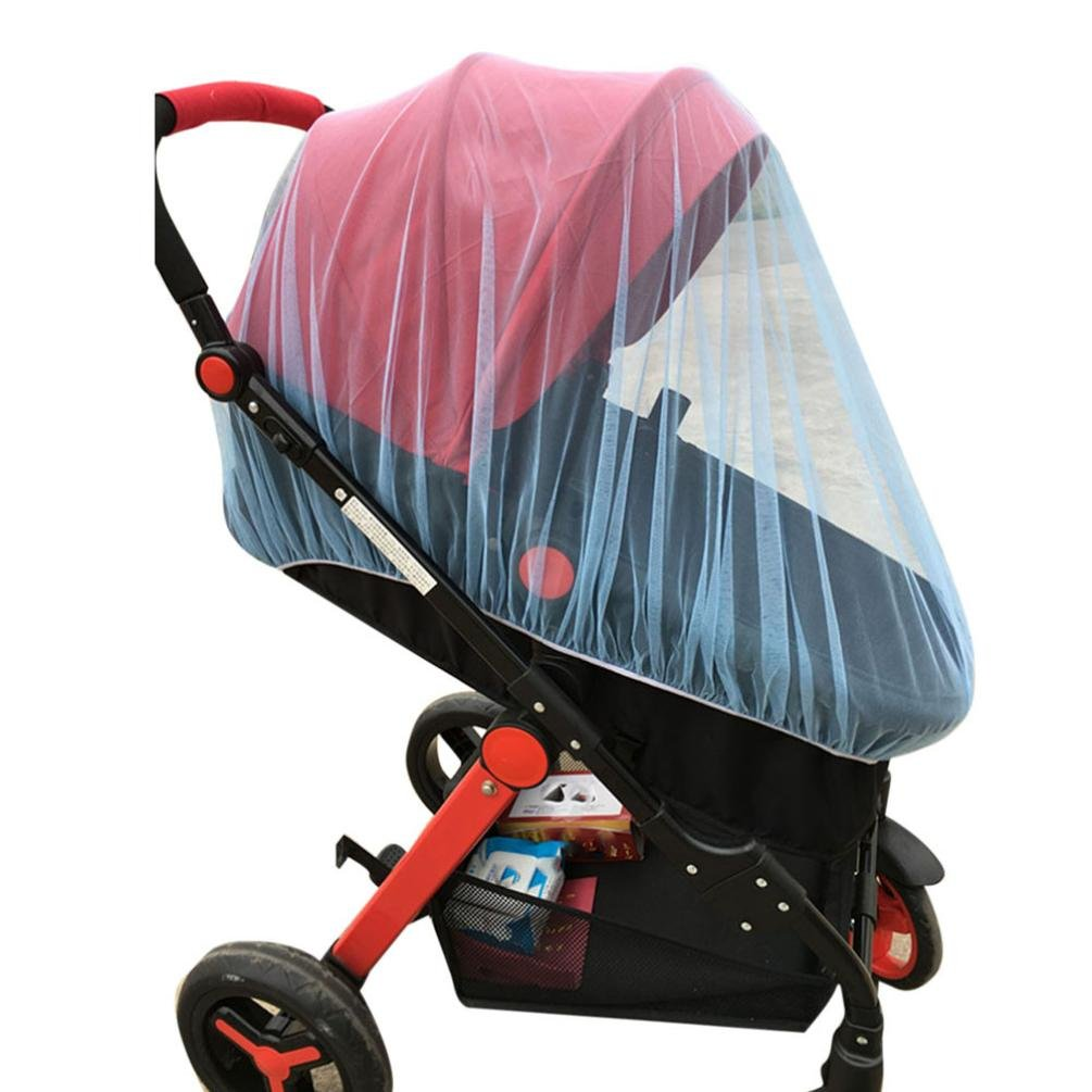 Celendi Bug Net Baby Crib Seat Mosquito Net Newborn Curtain Car Seat Insect Repellent Cover (Blue)