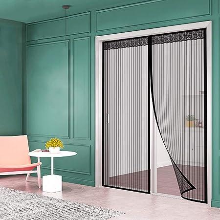 Cortina Mosquitera para Puertas Cierre Magnético Automático Fácil de ensamblar Que Evita el Paso de Insectos, para Puertas - 220 x 270 cm: Amazon.es: Hogar