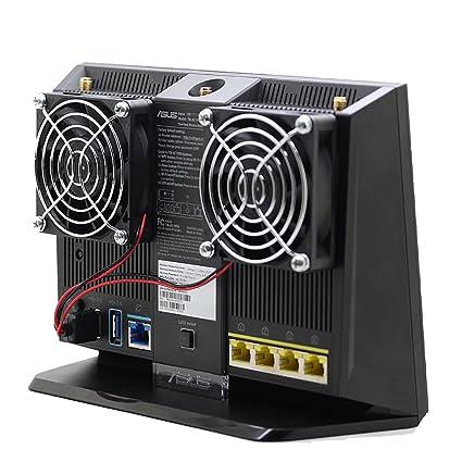 Cooling Fan Heat Radiator USB Power Ultra Silent Dissipate Temperature  Control For RT-AC68U EX6200 AC15 AC68U Router