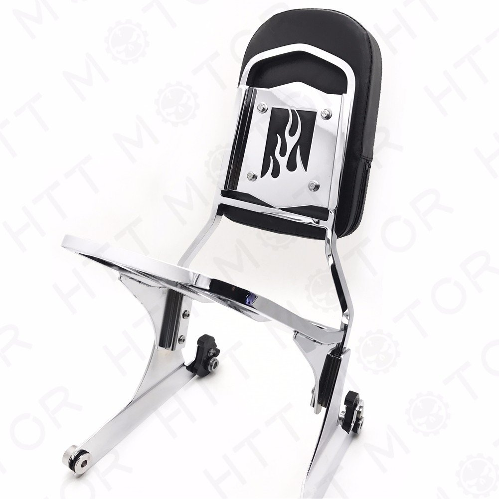 SMT MOTO NEW Detachable Sissy Bar Backrest Luggage Rack for Harley FATBOY Softail FLSTN