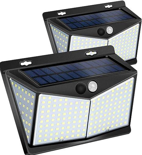 Solar Lights Outdoor 208 LED Wireless Motion Sensor Lights IP65 Waterproof 270°