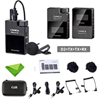 Comica BoomX-D D2 Wireless Lavalier Microphone System,2.4G Digital 1-Trigger-2 Wireless Microphone OLED Display…