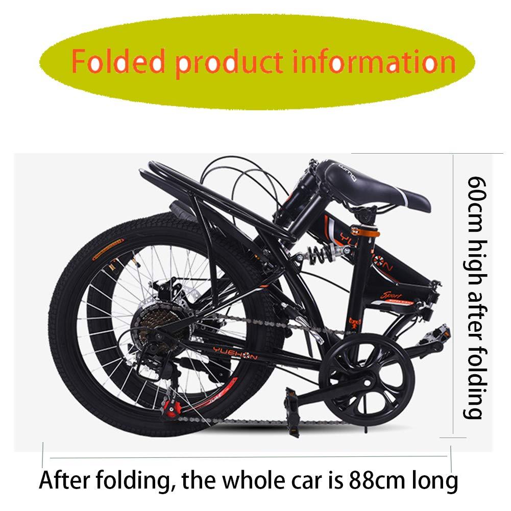 LETFF Bicicleta Plegable para Adultos 20 Pulgadas para Hombres y Mujeres(White): Amazon.es: Deportes y aire libre