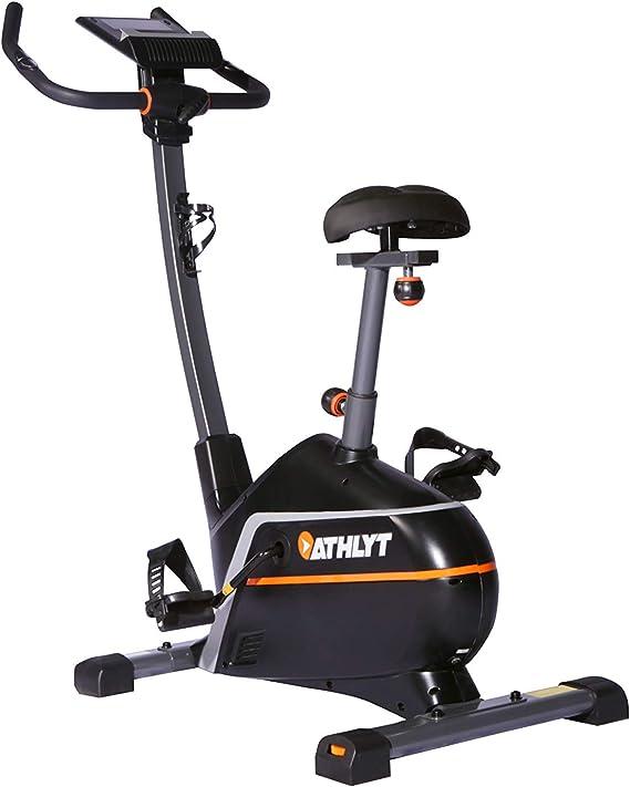 Athlyt - Bicicleta estática Premium, gris: Amazon.es: Deportes y ...