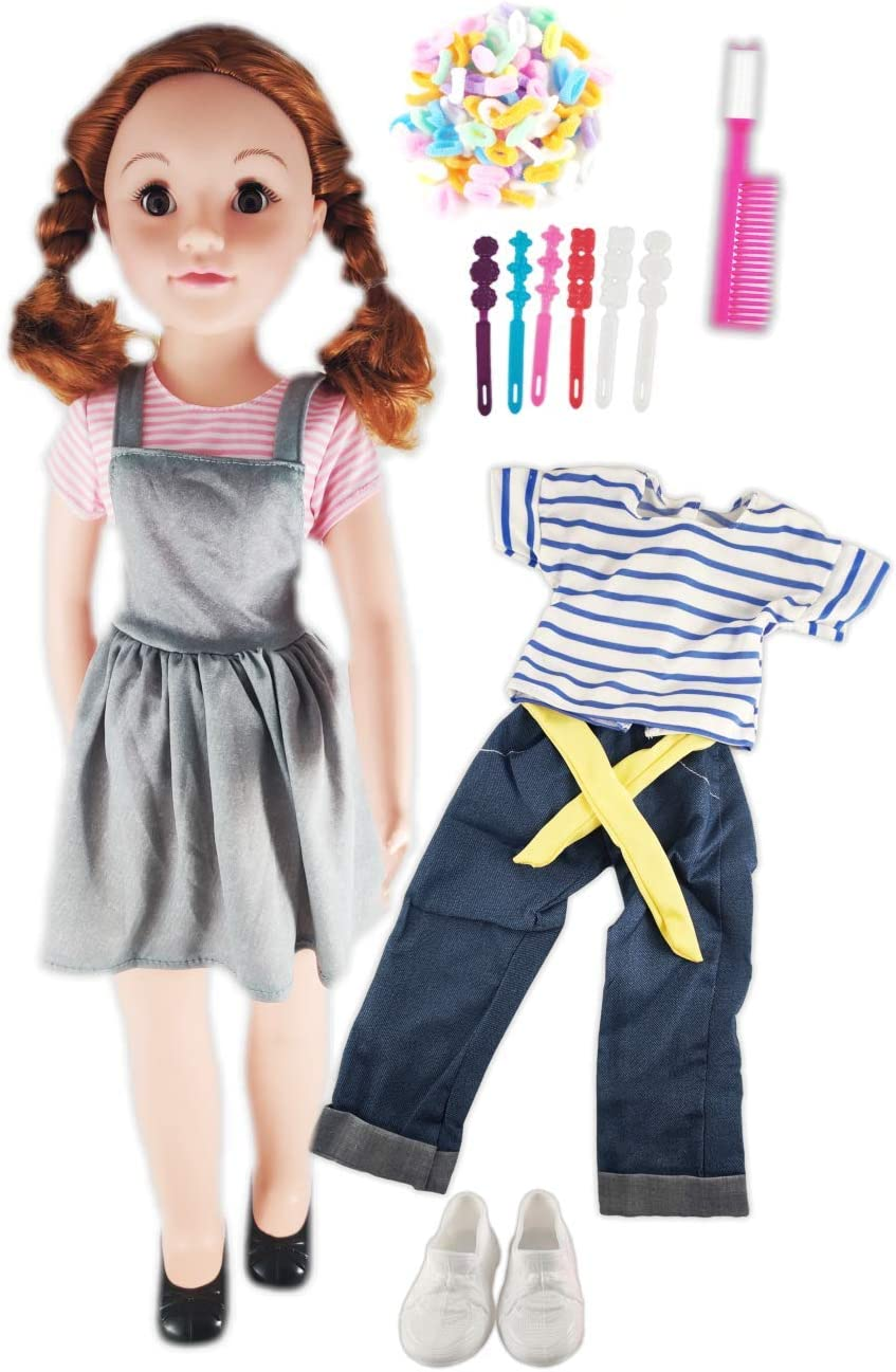 "Shoes Set 2 Complete Outfits WISPY WALKER 28"" DOLL FASHION COLLECTION Clothing"