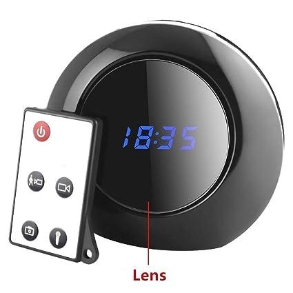 TenSky Reloj Despertador Digital Camara Espia Camufladas con Sensor de Movimiento Video Grabador Angulo Vision de