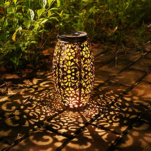 Solar Lantern Lights for Hanging or Table Outdoor Solar Light for Patio Courtyard Garden -