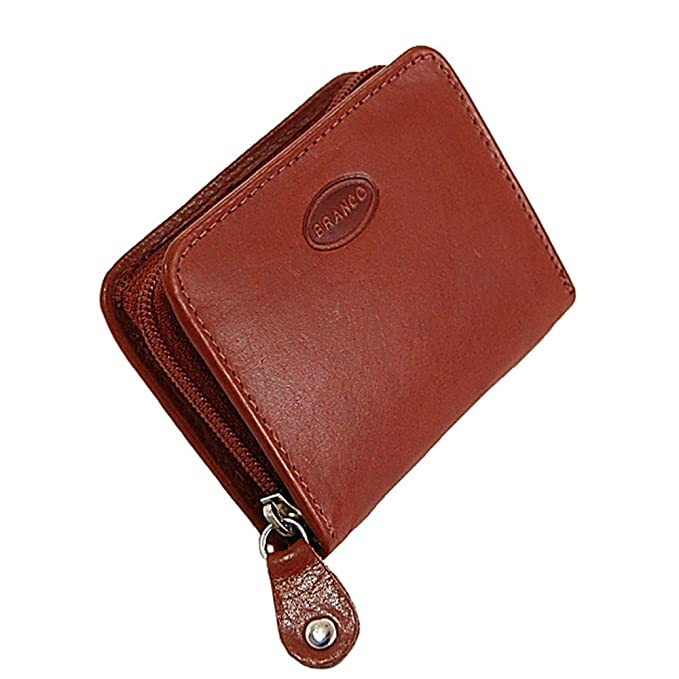 d995bcac93da9 Branco Münzbörse Leder Minibörse Reißverschluss Geldbörse Geldbeutel  Portemonnaie kleine Börse GoBago (Blau)  Amazon.de  Koffer