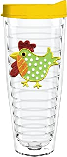 product image for Smile Drinkware USA-HEN POLKA DOT 26oz Tritan Insulated Tumbler With Lid and Straw