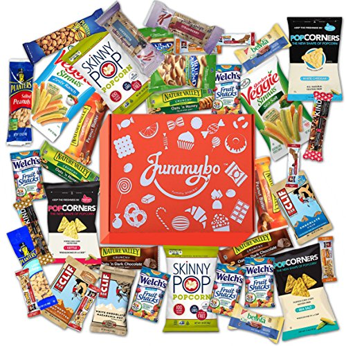 Healthy Snacks Variety by Jummybo - Snack Gift Box - For Kids, Traveling, and Office Snacks (40 count) (Office Snack)