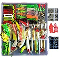 Fishing Lure with Tackle Box 275Pcs Included Pencil Bait...