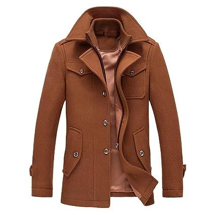 YOUTHUP Herren Wintermantel mit Stehkragen und Hochwertige Materialqualität Lange Jacke