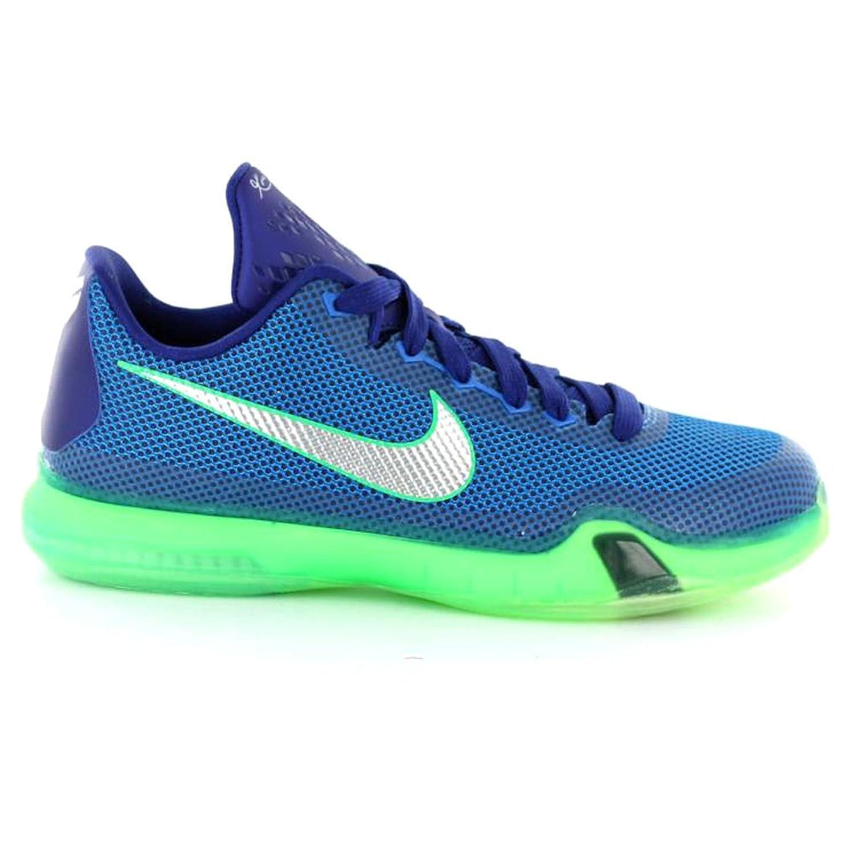 Nike Boys' Kobe X (GS) Basketball Shoes, Blue/Silver/Green (Soar/Metallic  Silver-Dp RYL Bl), 4.5 UK: Amazon.co.uk: Shoes & Bags