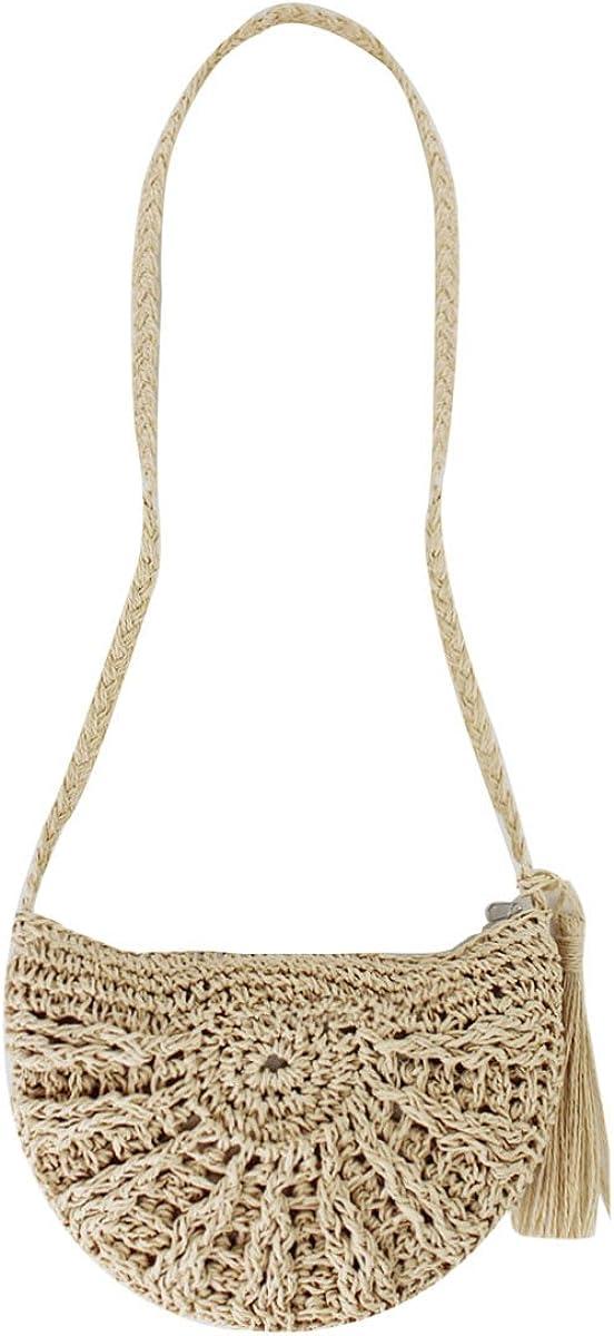 Rebecca Women Straw Summer Shoulder Bag Stylish Beach Sling Bag Travel Weave Handbag