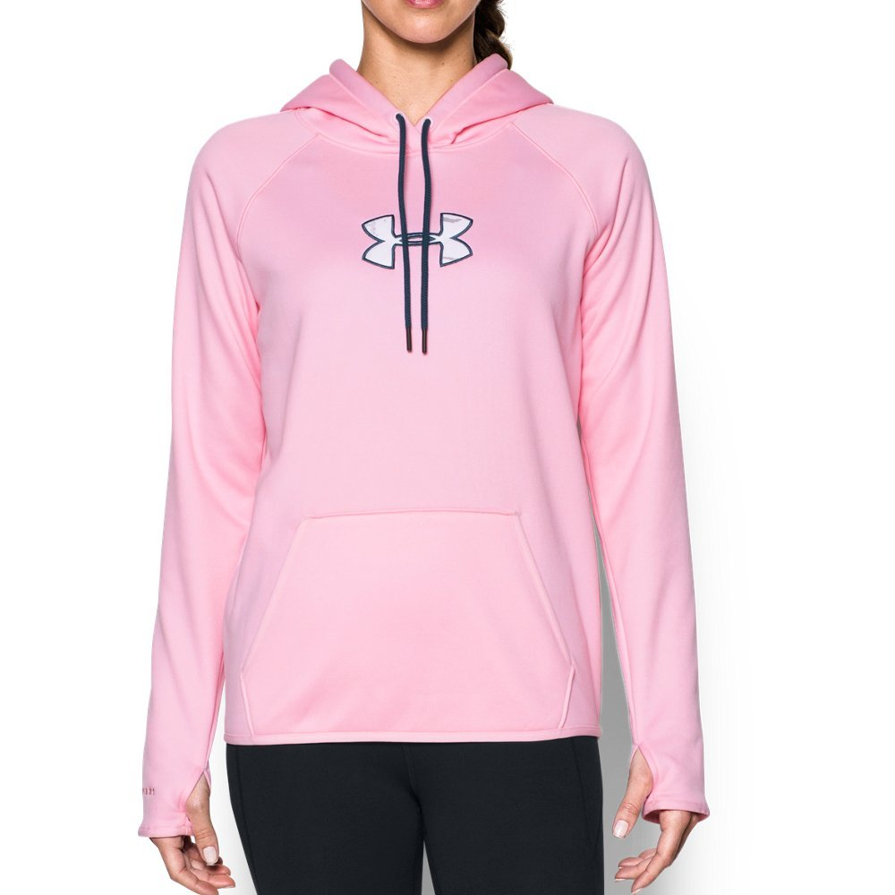 Under Armour Women's Icon Caliber Hoodie, Pink Foam (913), X-Small