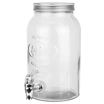 my-goodbuy24 3 litros dispensador de bebidas de vidrio con grifo y tapa – Dispensador