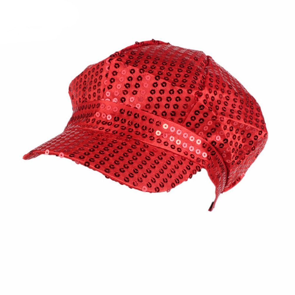 ACTLATI Fashion Sequins Visor Beret Newsboy Cap for Men Women ACTLATI-MPA968J@1