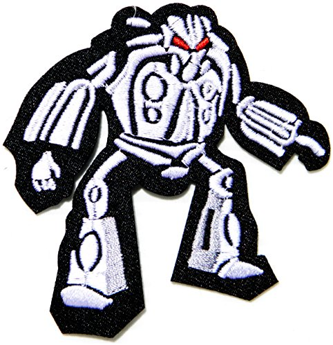 Robot Transformers Cartoon Kid Jacket T shirt Patch Sew Iron on Embroidered Applique Badge (Nerf Race)