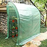 CO-Z Lean-to Greenhouse, Portable Walk in Green