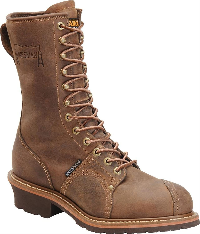 Carolina Boots: Men's Waterproof Linesman Vibram Boots CA904