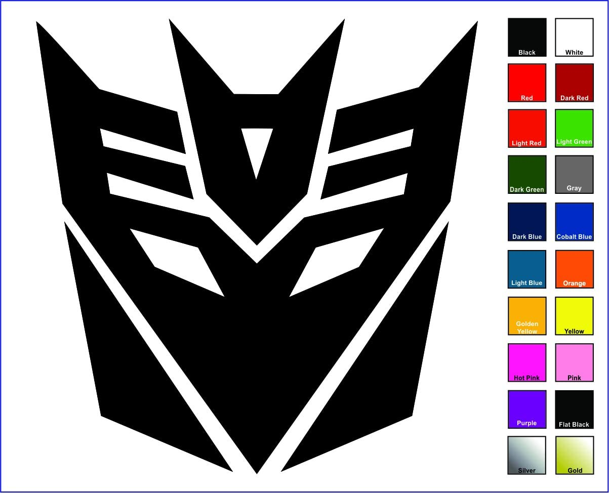 "Cove Signs Decepticons Sticker/Decal - Black 4"" - Transformers Megatron"