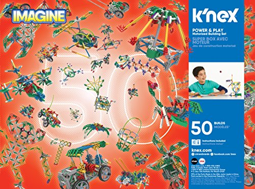 61yG3LS4wuL - K'NEX Imagine – Power and Play Motorized Building Set – 529 Pieces – Ages 7 and Up – Construction Educational Toy