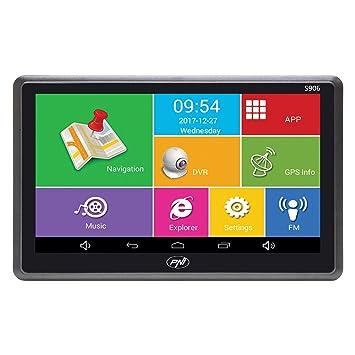 Sistema de navegación GPS de 7 Pulgadas y Coche DVR Dash CAM Integrado PNI S906, Android 6.0, Mapas Here y Waze preinstalados: Amazon.es: Electrónica