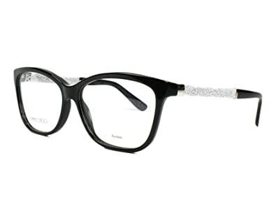 a7fdeec5c83 Amazon.com  JIMMY CHOO Eyeglasses 105 0Fa3 Black 55MM  Shoes